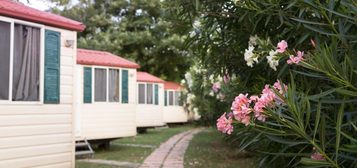 a trailer park for mobile homes