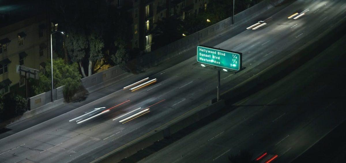 driving on freeway in california