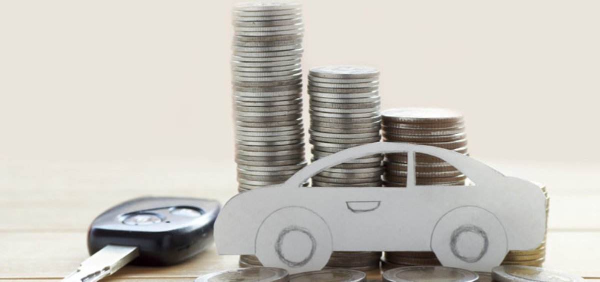 a car figure with coins