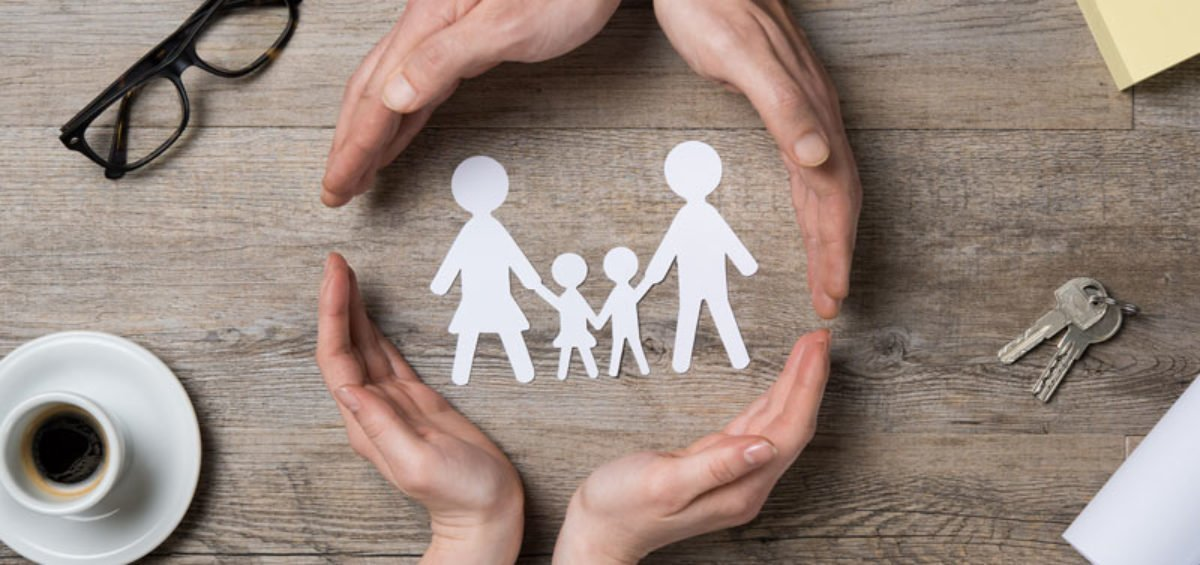 concept of protecting family